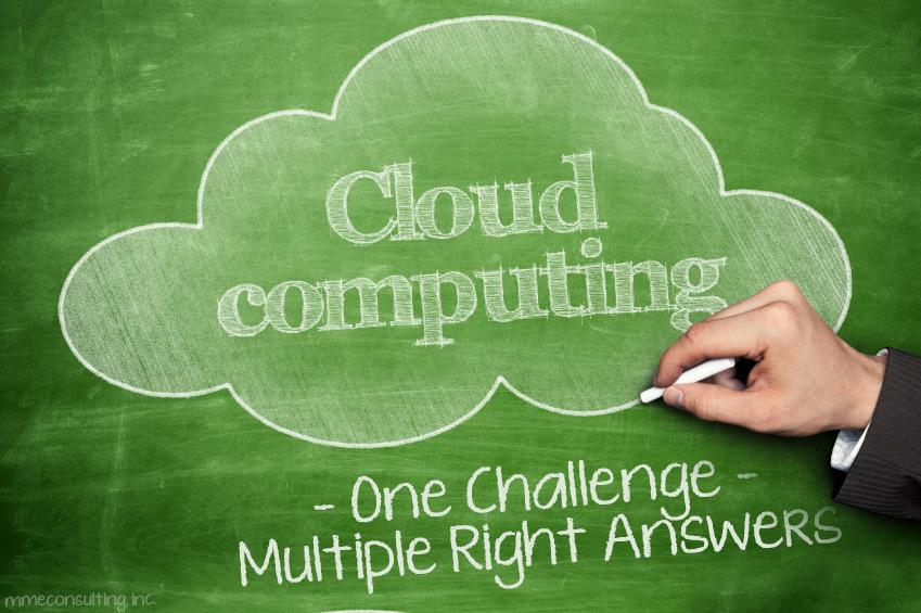 Cloud Computing Chalkboard-One challenge